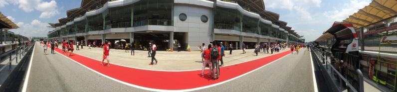 Pit lane walk