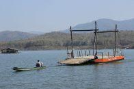 Empty pontoon returning