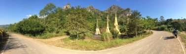 Road by Nam Ngim Buddhist monument